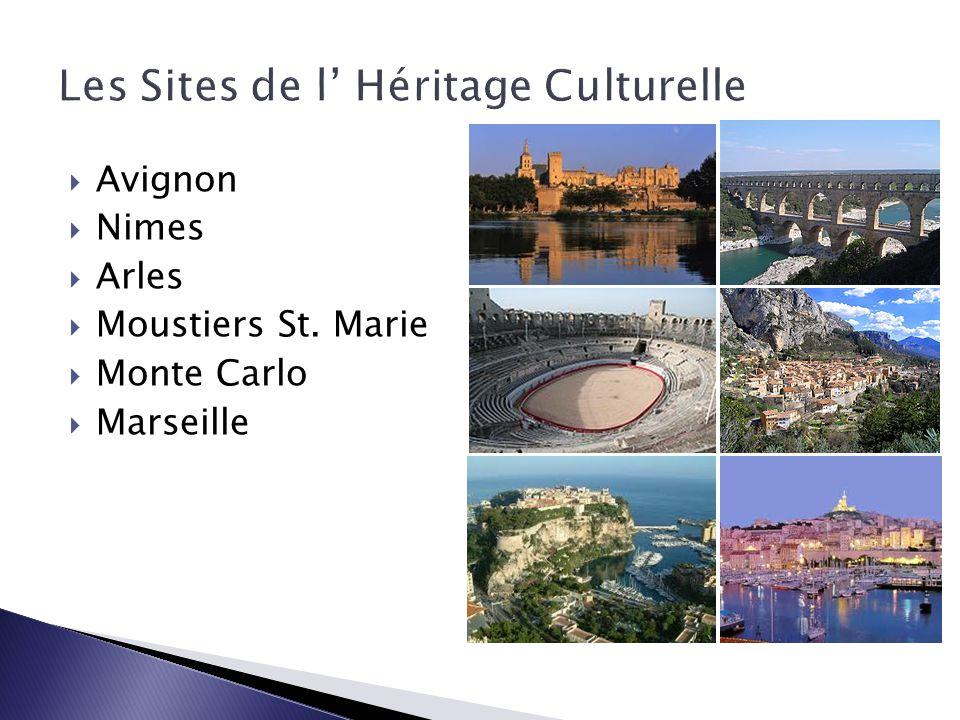  Avignon  Nimes  Arles  Moustiers St. Marie  Monte Carlo  Marseille
