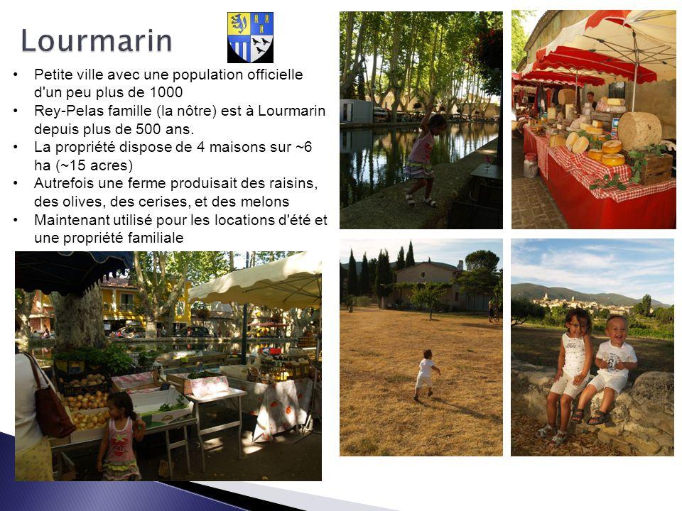 Petite ville avec une population officielle d'un peu plus de 1000 Rey-Pelas famille (la nôtre) est à Lourmarin depuis plus de 500 ans. La propriété di