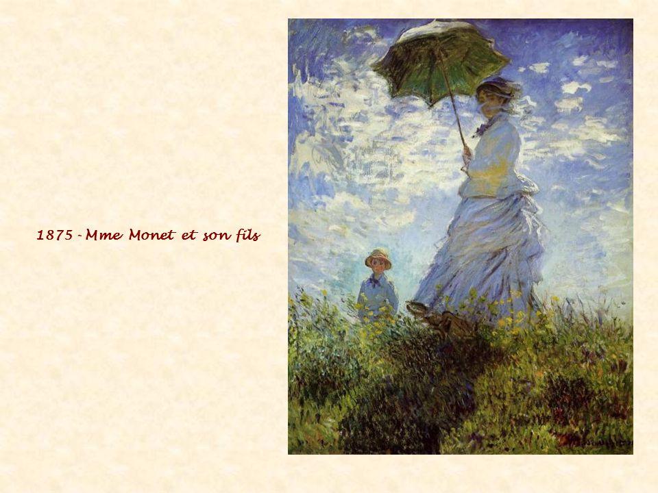 1875 - Mme Monet et son fils