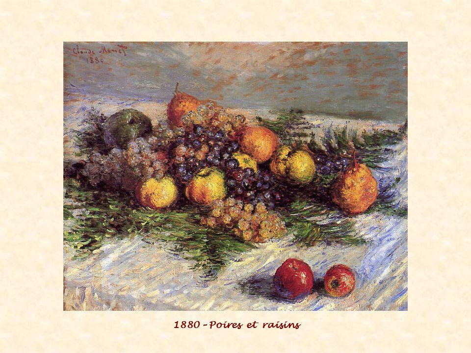 1880 – Poires et raisins