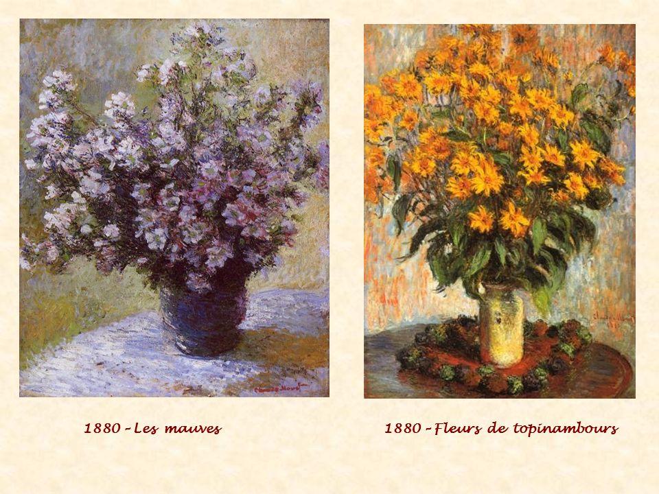 1880 – Les mauves1880 – Fleurs de topinambours