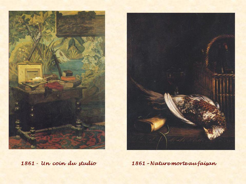 1861 - Un coin du studio1861 – Nature morte au faisan