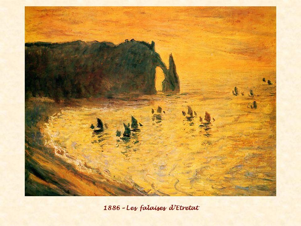 1886 – Les falaises d'Etretat