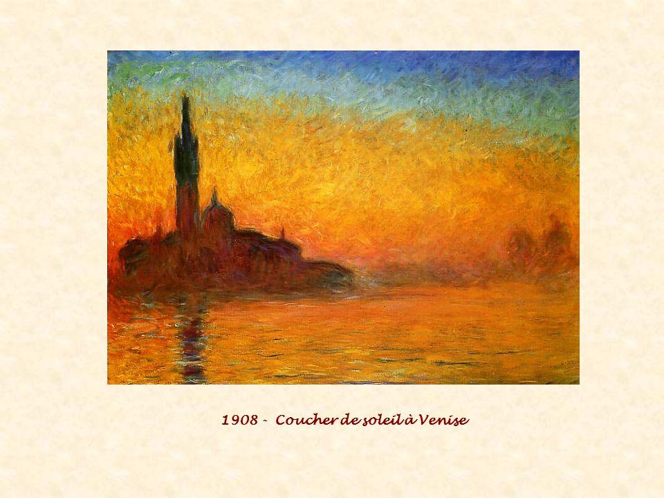 1908 - Coucher de soleil à Venise