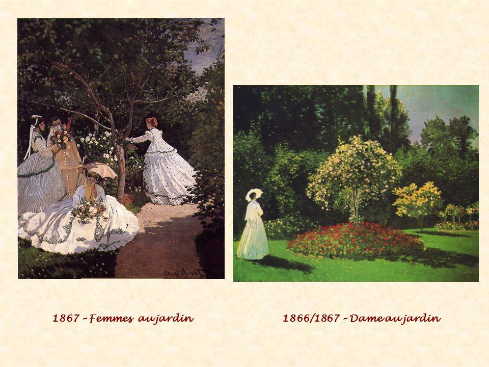 1867 – Femmes au jardin1866/1867 – Dame au jardin
