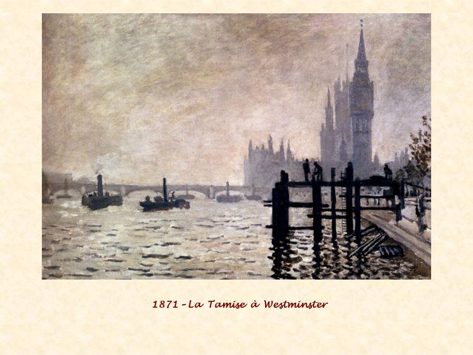 1871 – La Tamise à Westminster