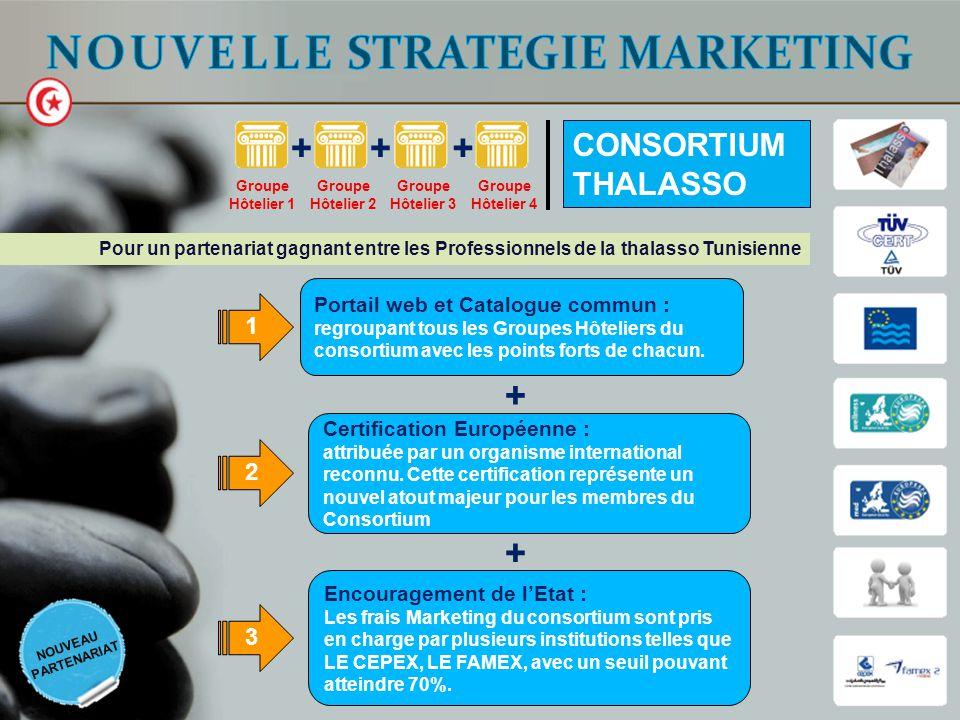 Portail web et Catalogue commun : regroupant tous les Groupes Hôteliers du consortium avec les points forts de chacun. Certification Européenne : attr