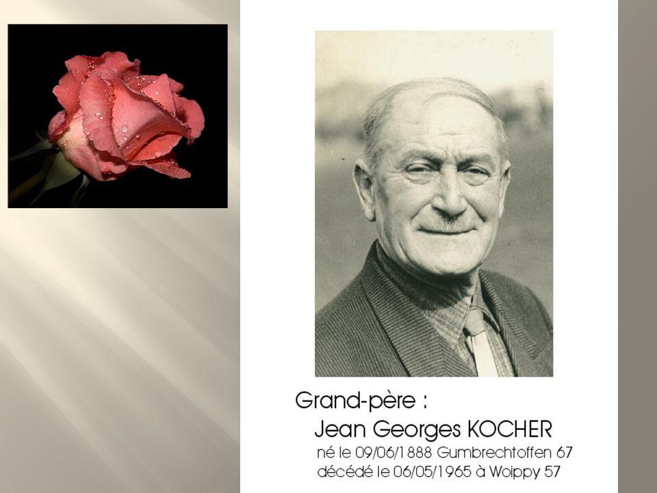 Epouse de Jean Georges KOCHER