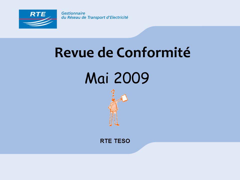 Revue de Conformité Mai 2009 RTE TESO