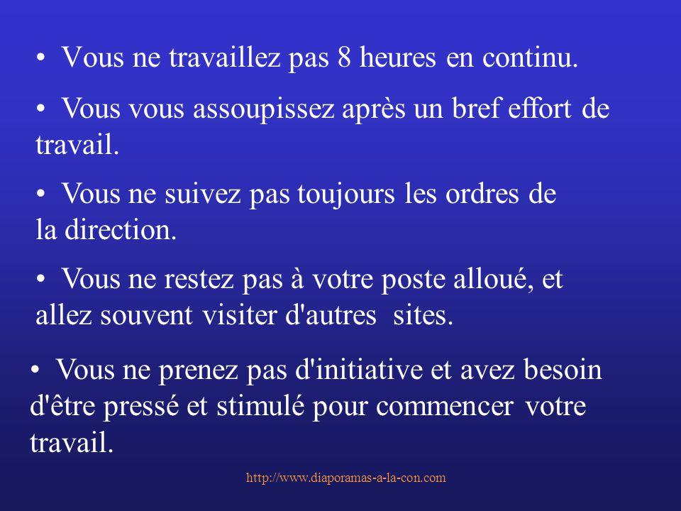 http://www.diaporamas-a-la-con.com Vous ne suivez pas toujours les règles de sécurité, comme le port de vêtement protecteur.