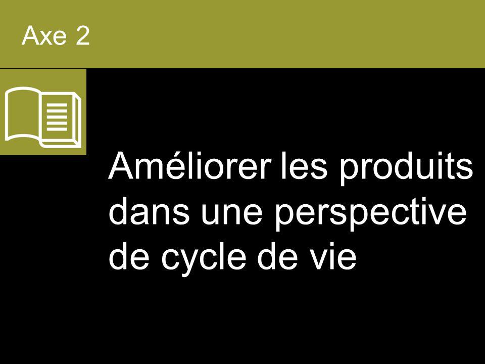 Améliorer les produits dans une perspective de cycle de vie Axe 2