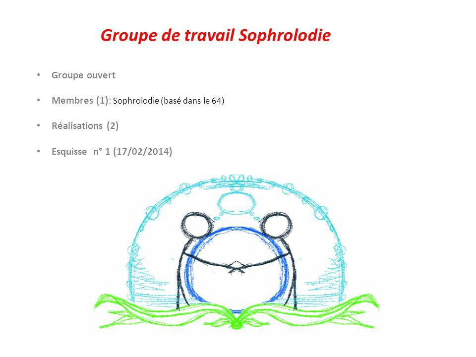 Groupe de travail Sophrolodie Groupe ouvert Membres (1): Sophrolodie (basé dans le 64) Réalisations (2) Esquisse n° 1 (17/02/2014)