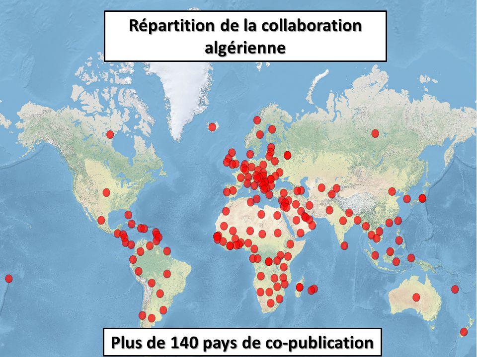 Evolution de la production scientifique Algéro-Française 8983 co-publications