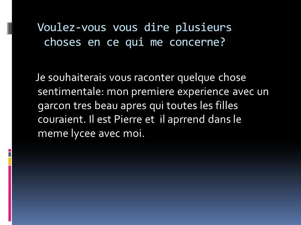 Je pense a Pierre Quoique je sois une eleve qui aime lire, dans mon dernier temps je ne peux plus me concentrer.