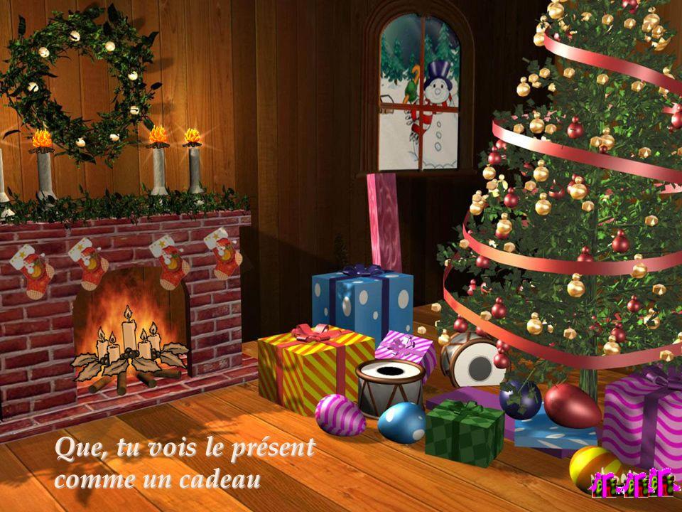 Que, tu vois le présent Que, tu vois le présent comme un cadeau