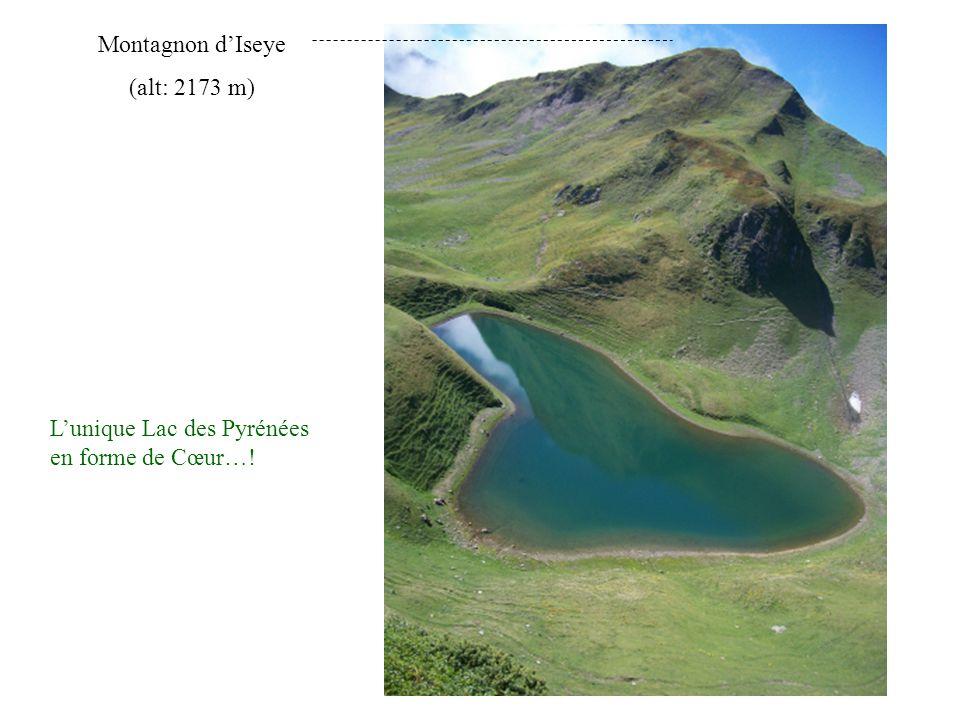 L'unique Lac des Pyrénées en forme de Cœur…! Montagnon d'Iseye (alt: 2173 m)