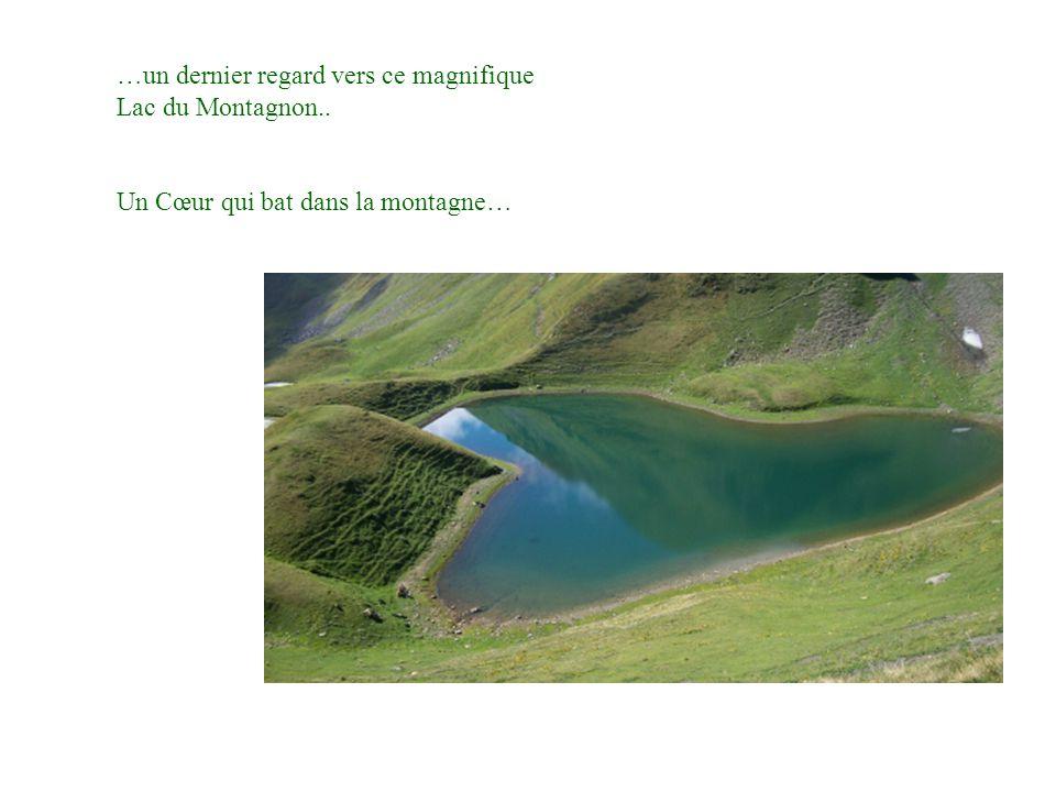 …un dernier regard vers ce magnifique Lac du Montagnon.. Un Cœur qui bat dans la montagne…
