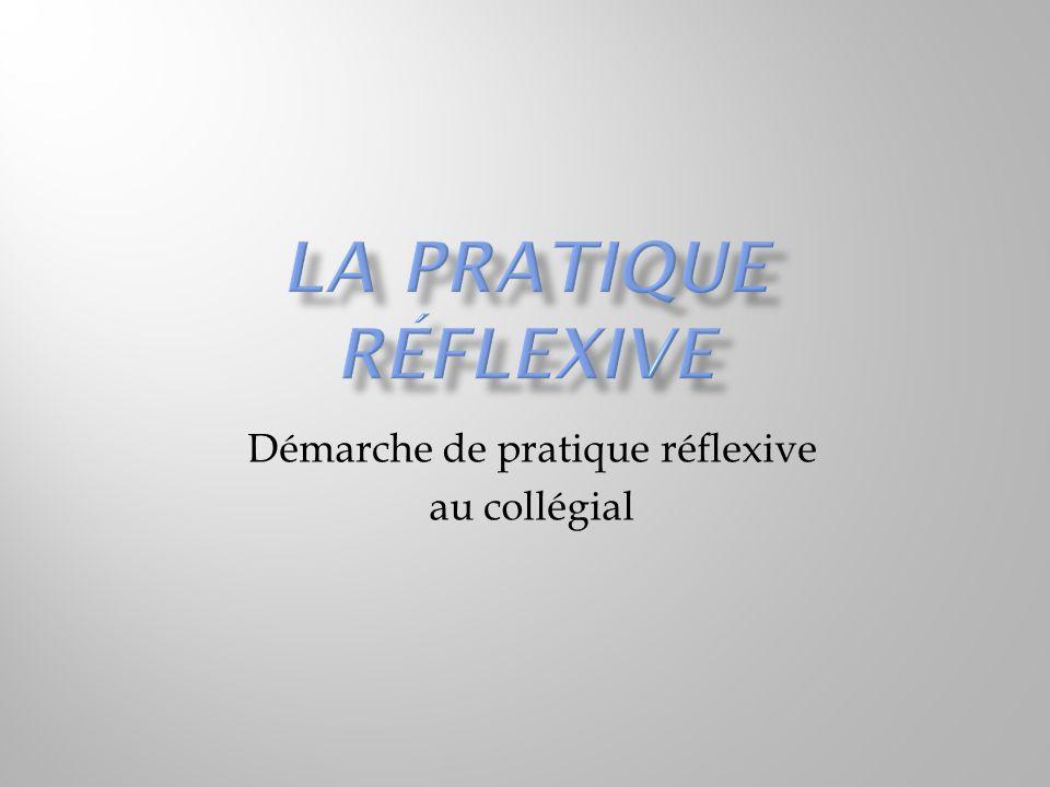 Démarche de pratique réflexive au collégial