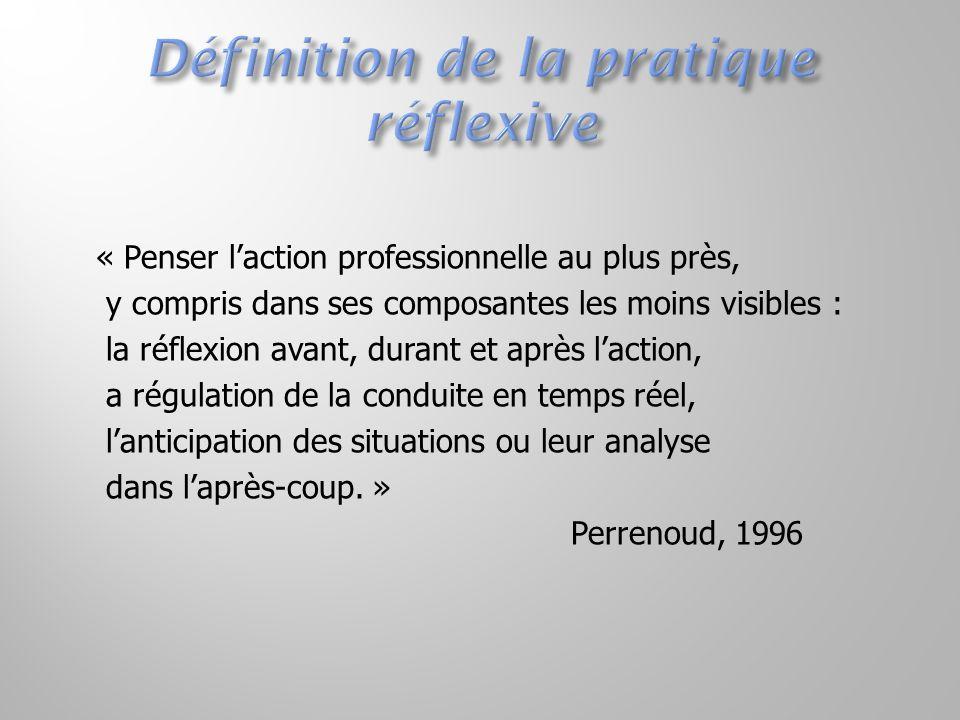 « Penser l'action professionnelle au plus près, y compris dans ses composantes les moins visibles : la réflexion avant, durant et après l'action, a ré