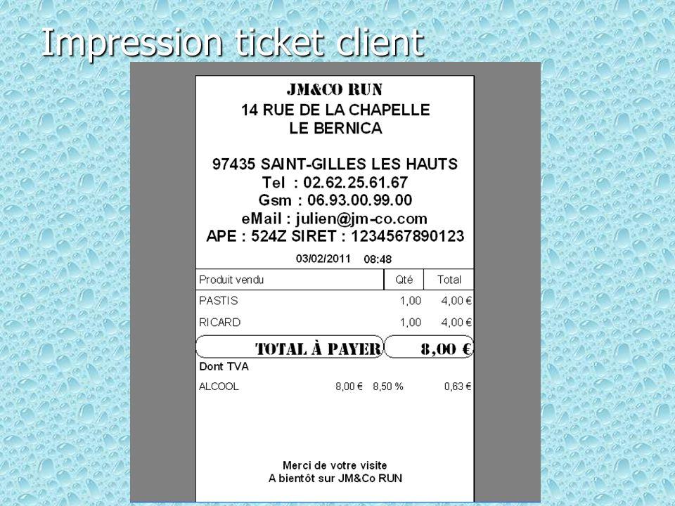 Impression ticket client