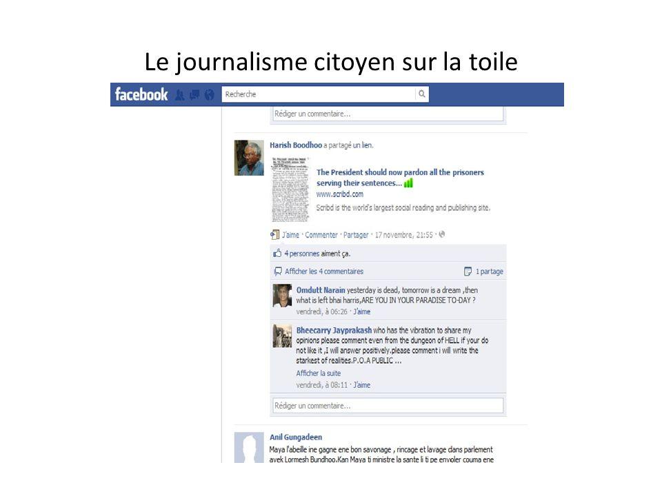 Le journalisme citoyen sur la toile