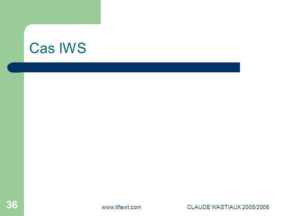 www.tifawt.comCLAUDE WASTIAUX 2005/2006 36 Cas IWS