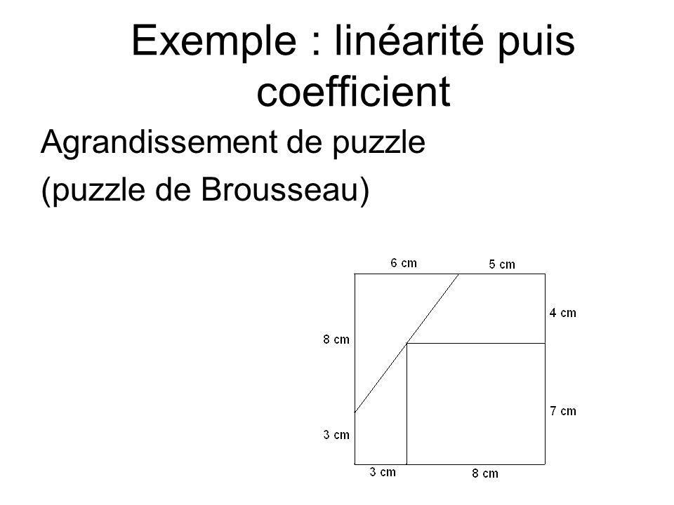 Exemple : proportionnel ou non?