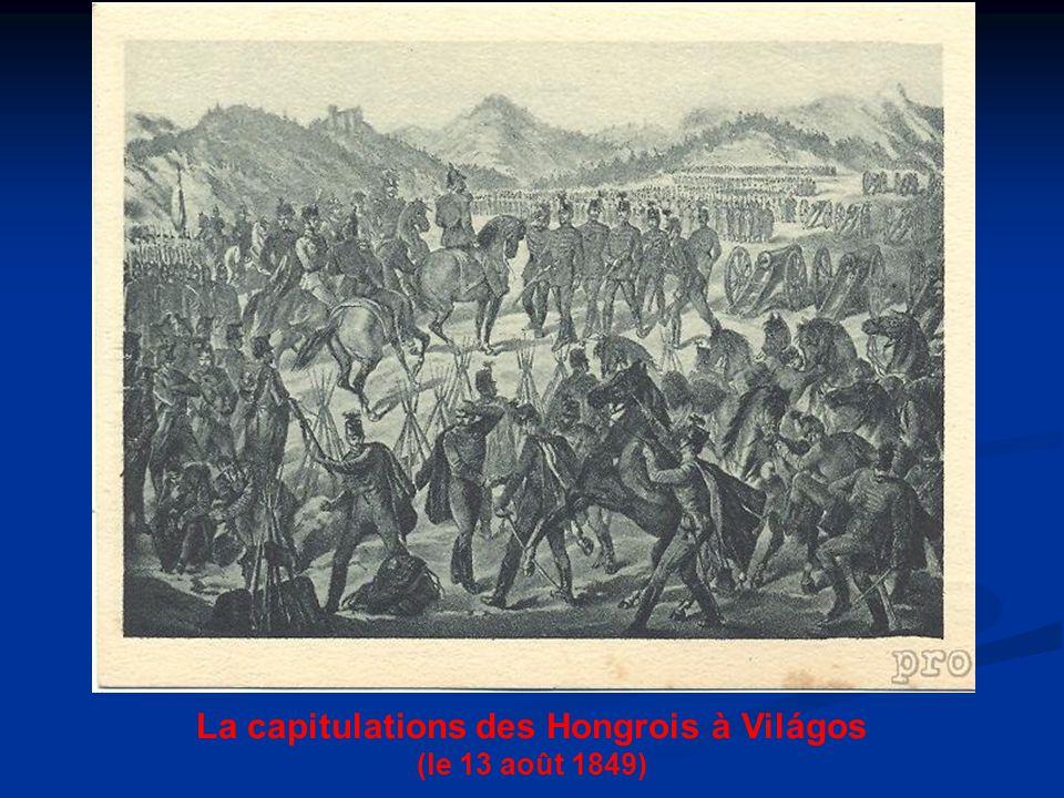 La capitulations des Hongrois à Világos (le 13 août 1849)