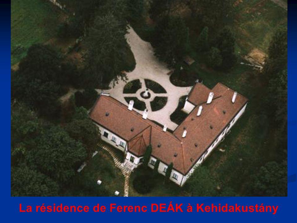 La résidence de Ferenc DEÁK à Kehidakustány