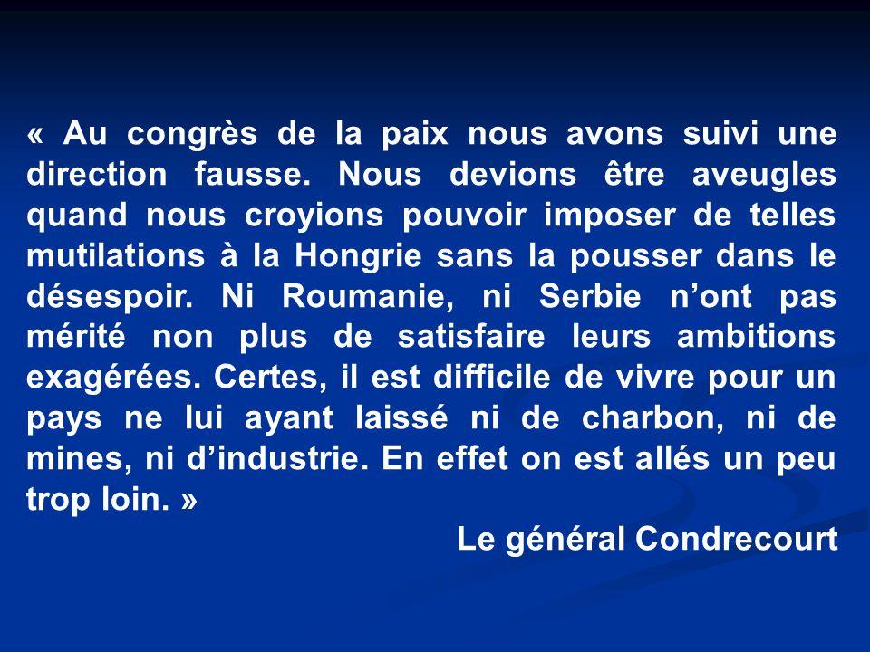 « Au congrès de la paix nous avons suivi une direction fausse.