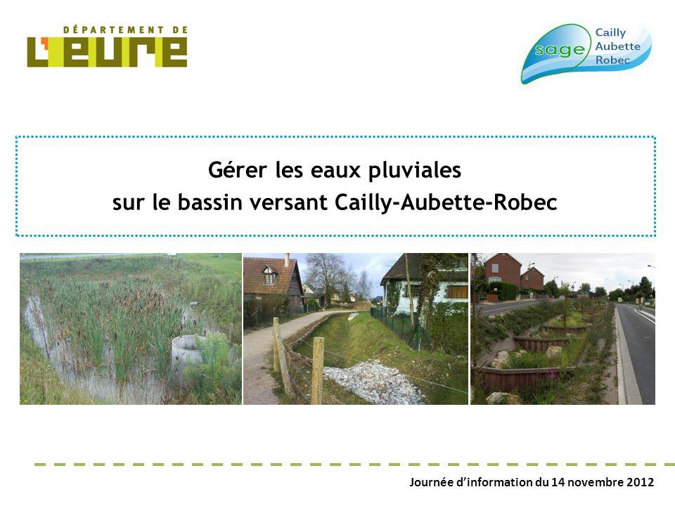 Journée d'information du 14 novembre 2012 Gérer les eaux pluviales sur le bassin versant Cailly-Aubette-Robec