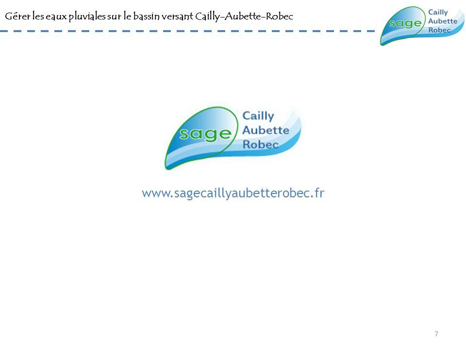 Gérer les eaux pluviales sur le bassin versant Cailly-Aubette-Robec www.sagecaillyaubetterobec.fr 7