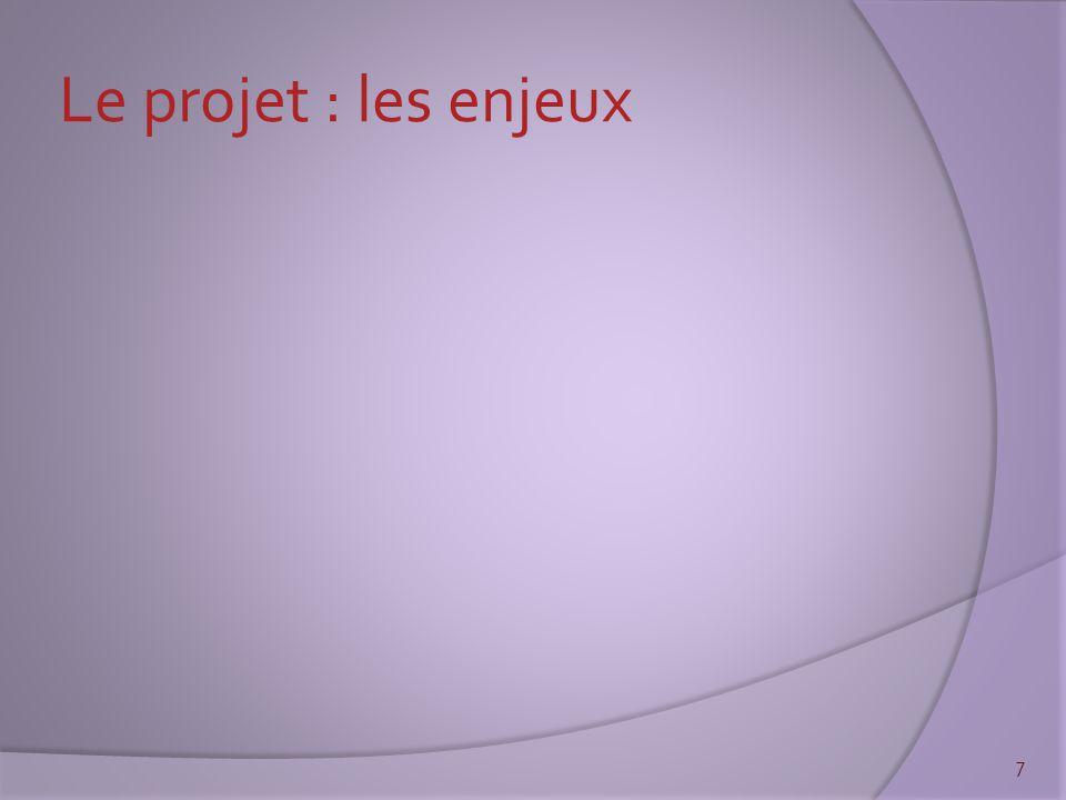 Le projet : les enjeux 7