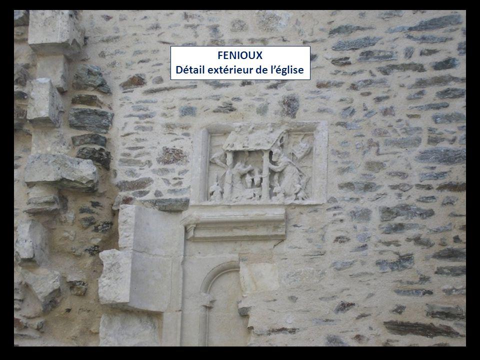 FENIOUX Détail extérieur de l'église