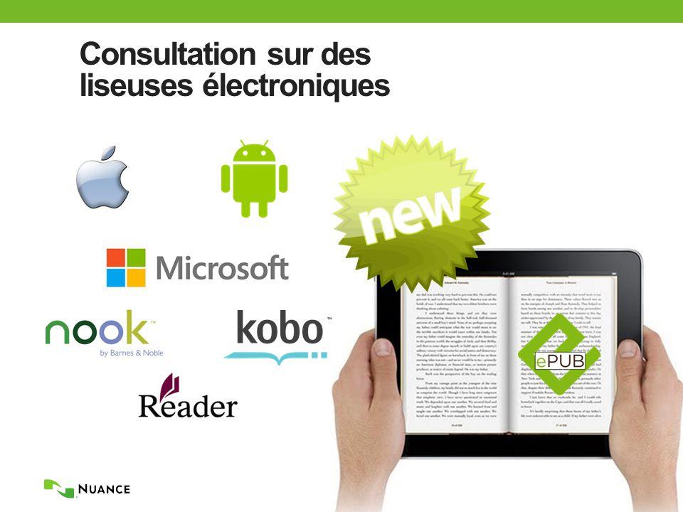 Consultation sur des liseuses électroniques