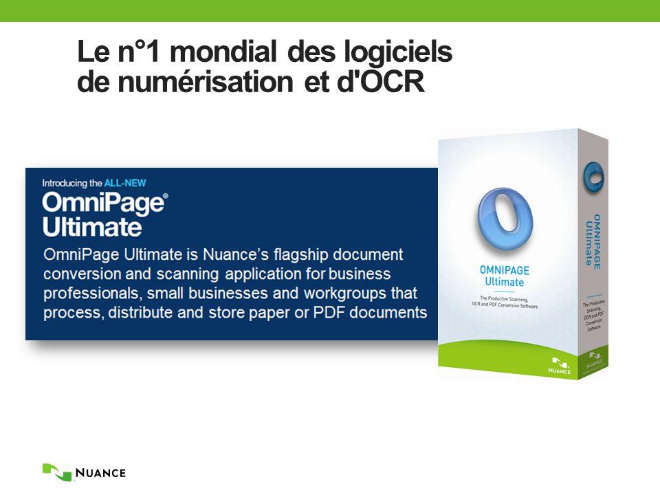 Le n°1 mondial des logiciels de numérisation et d OCR