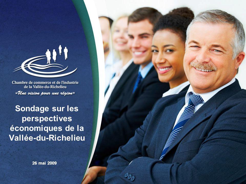 Sondage sur les perspectives économiques de la Vallée-du-Richelieu 26 mai 2009