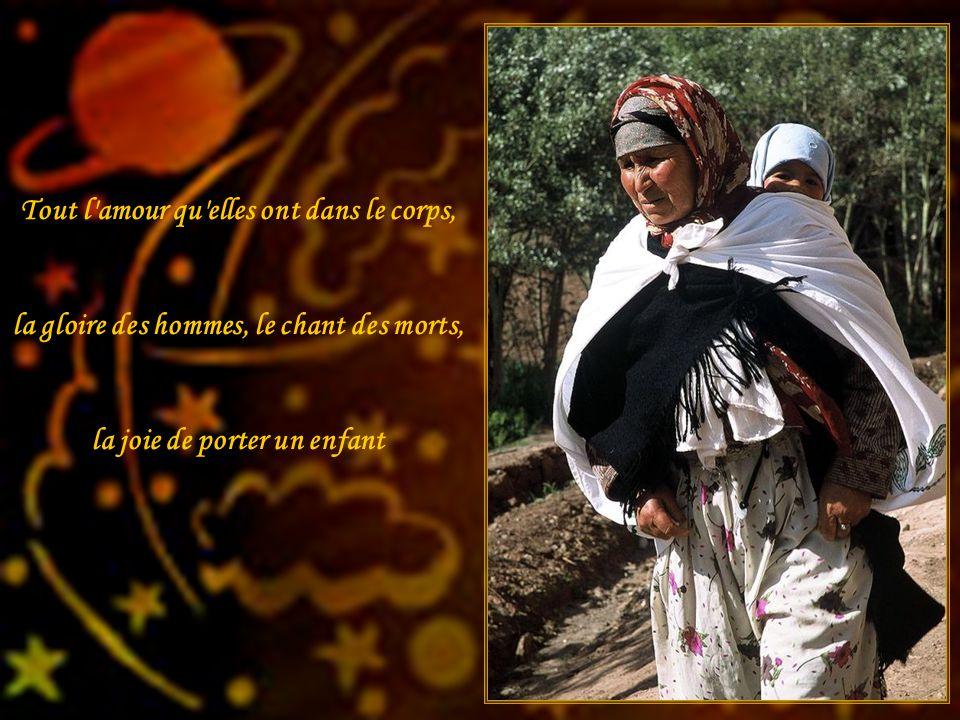 Les femmes ont pour leur lassitude des jardins clos de solitude, Le long sanglot des musulmanes…