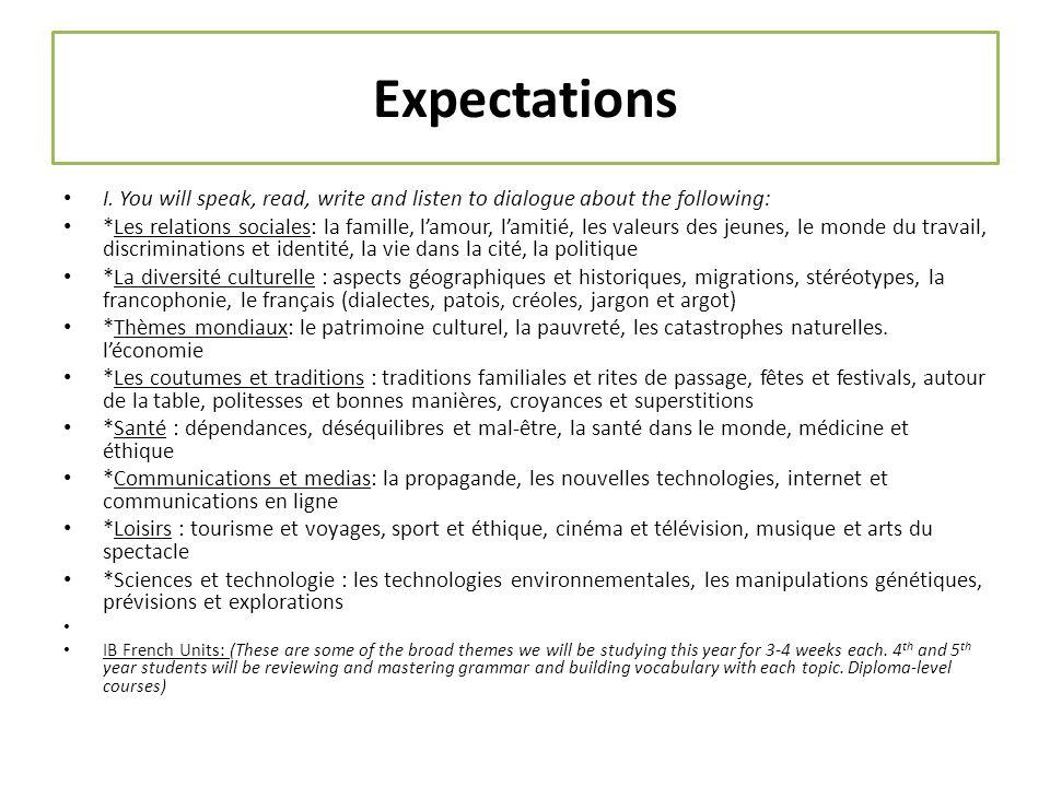 Expectations I.