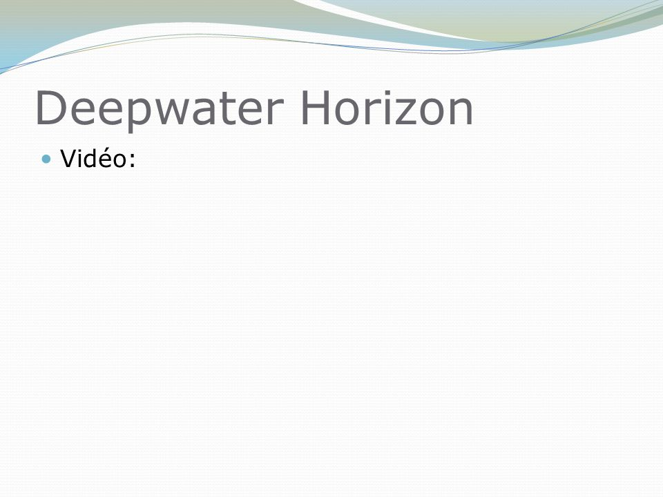 Deepwater Horizon Vidéo:
