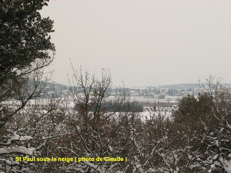 La Drome sous la neige ( photo de Claude )
