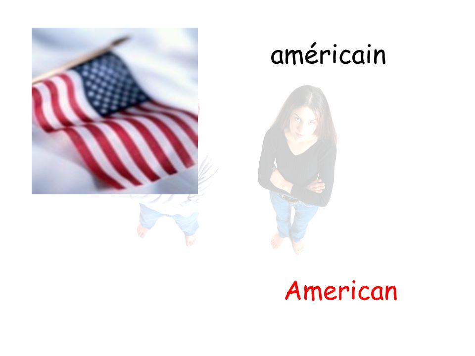 américain American