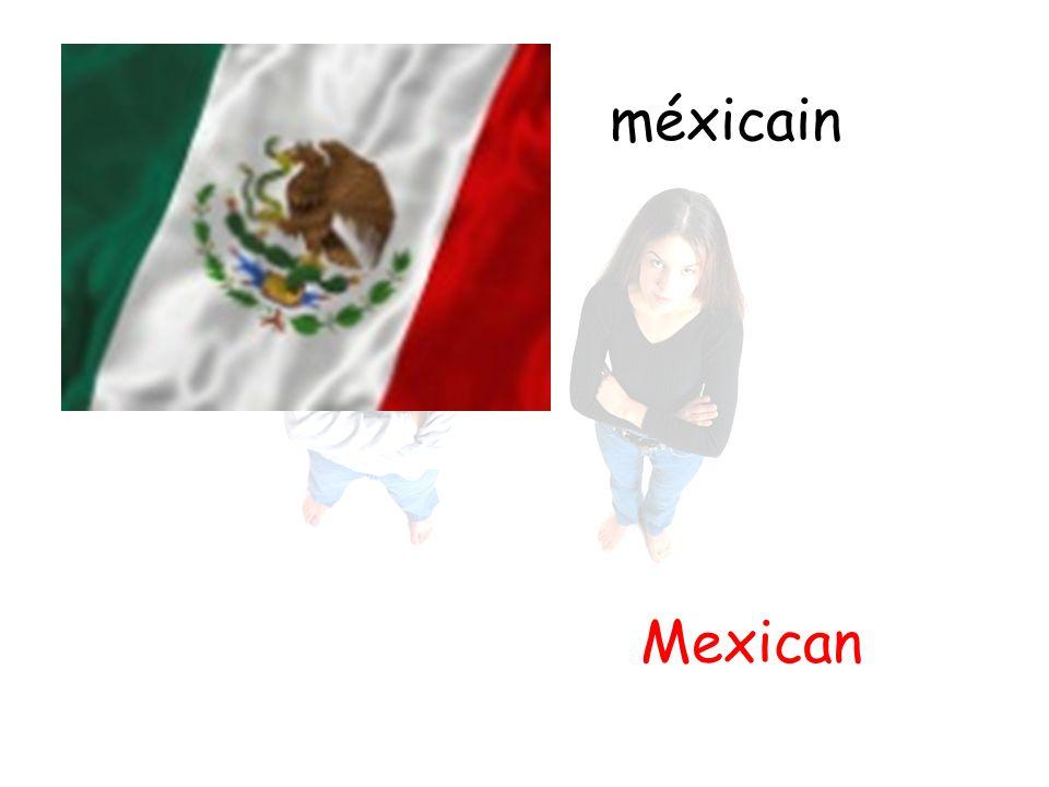 méxicain Mexican