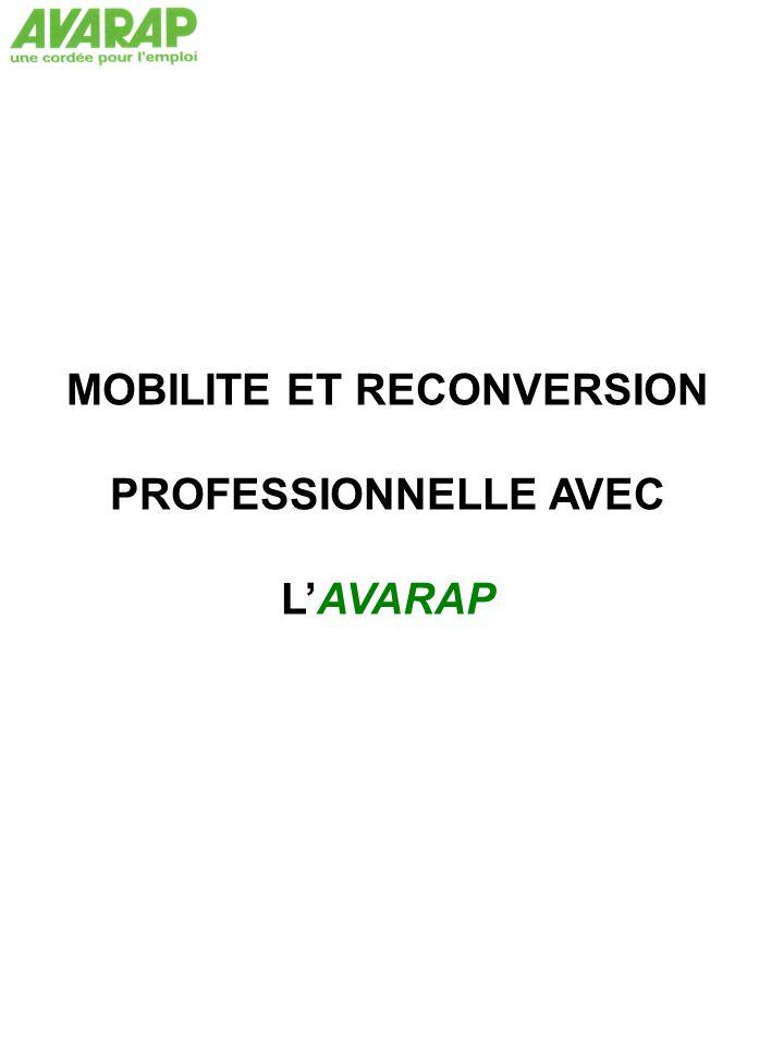 MOBILITE ET RECONVERSION PROFESSIONNELLE AVEC L'AVARAP
