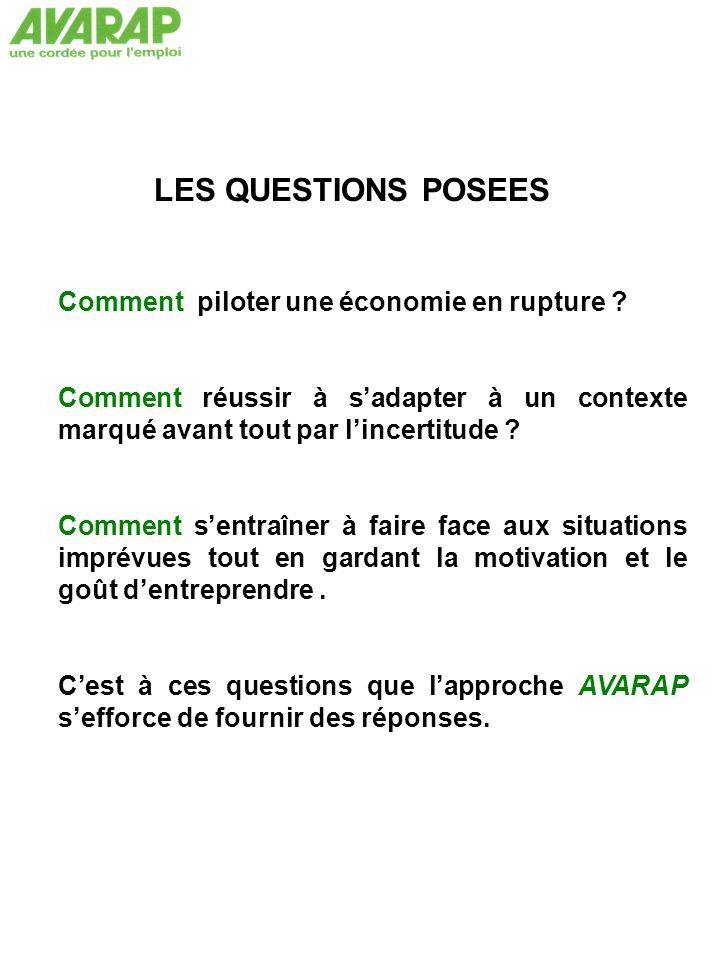 LES QUESTIONS POSEES Comment piloter une économie en rupture .