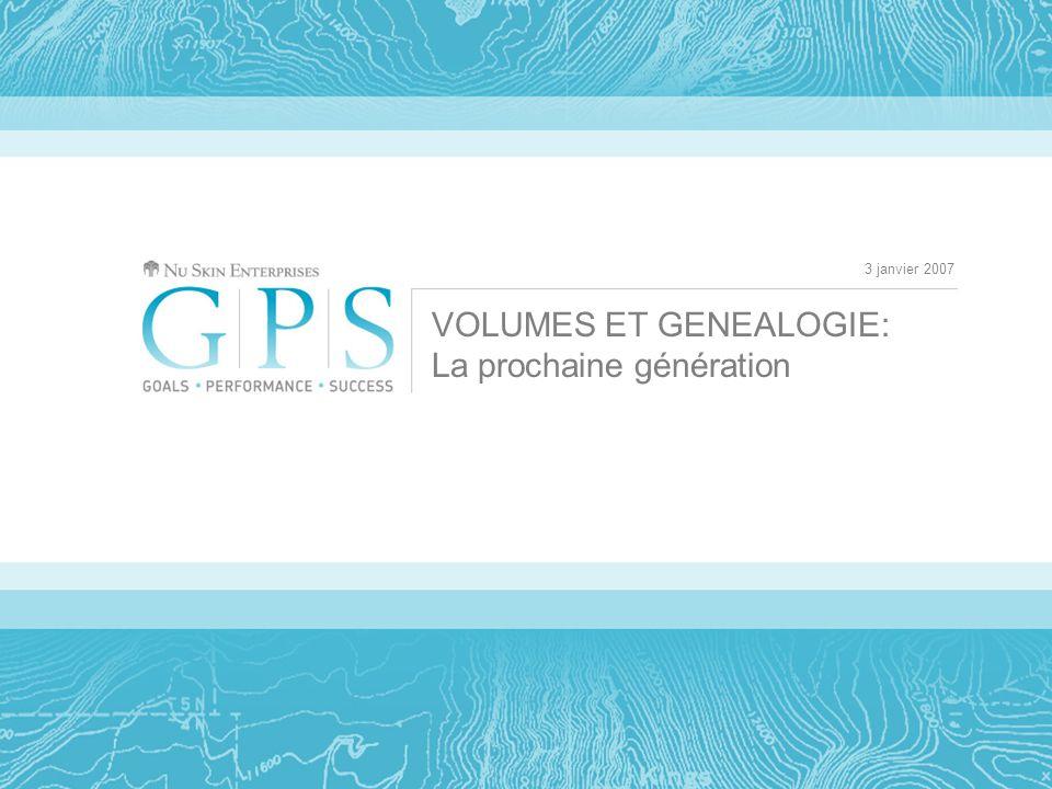 3 janvier 2007 VOLUMES ET GENEALOGIE: La prochaine génération