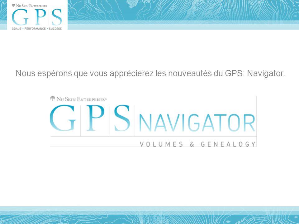 Nous espérons que vous apprécierez les nouveautés du GPS: Navigator.