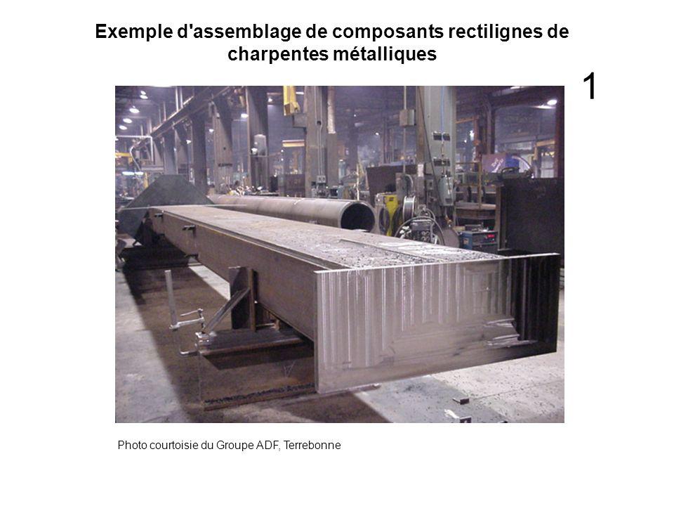 Exemple d'assemblage de composants rectilignes de charpentes métalliques Photo courtoisie du Groupe ADF, Terrebonne 1