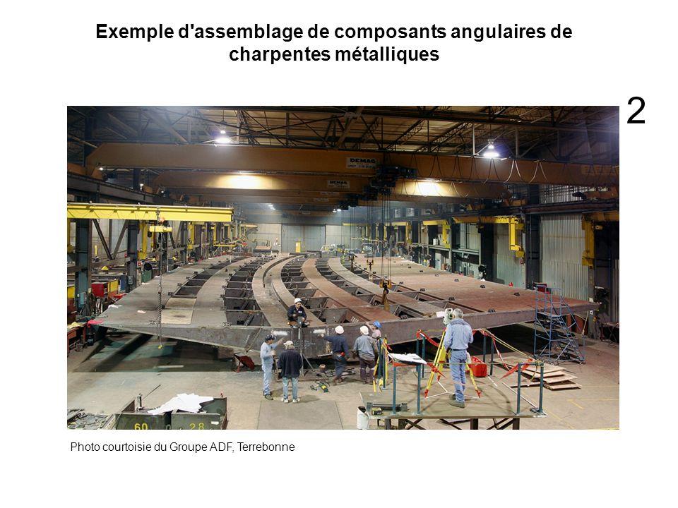 Exemple d'assemblage de composants angulaires de charpentes métalliques Photo courtoisie du Groupe ADF, Terrebonne 2