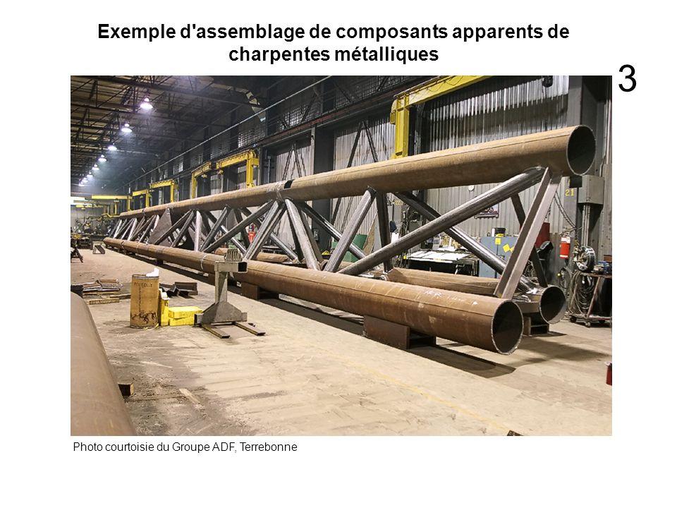 Exemple d'assemblage de composants apparents de charpentes métalliques Photo courtoisie du Groupe ADF, Terrebonne 3